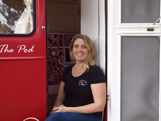 Helen owner of RetroPod glamping