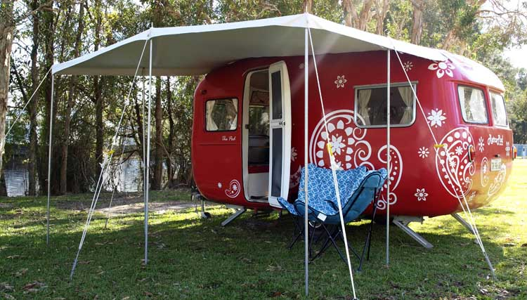 Retro style vintage glamping