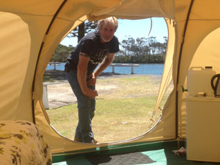Pete owner of RetroPod camping